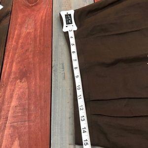 LOFT Skirts - 🎉3/$35 LOFT Chocolate Embroidered Skirt